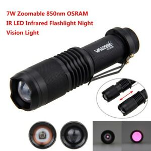 850nm 7w Zoomable Ir Led Infrarouge Vision Nocturne Lumiere Lampe