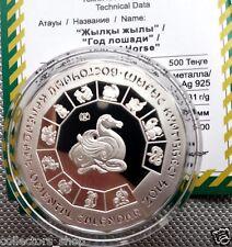 KAZAKHSTAN: Silver 500 tenge*LUNAR*ZODIAC*YEAR OF HORSE 2014*Ag*2013*PROOF