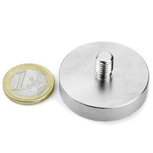 Super-Magnete-al-Neodimio-GTN-40-POTENZA-45-Kg-GAMBO-FILETTATO-M8-da-avvitare