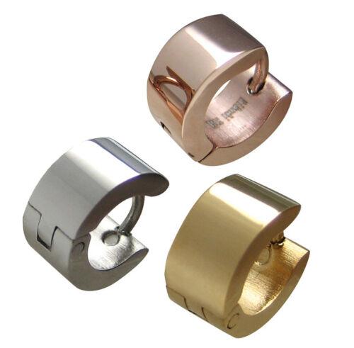 an vorderster Front der Zeit Kauf authentisch meistverkauft Details zu Kikuchi Damen Ohrringe mini silber gold rotgold Edelstahl Helix  XS Creolen 10mmØ