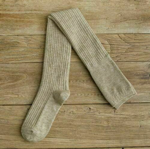 Solid Cashmere Design Socks Knee-High Boot Over Wool Skinny Thigh Women Stocking