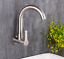 """Wall Mounted G1//2/"""" Size SUS Kitchen Sink Faucet Single Cold Brushed Nickel Tap"""