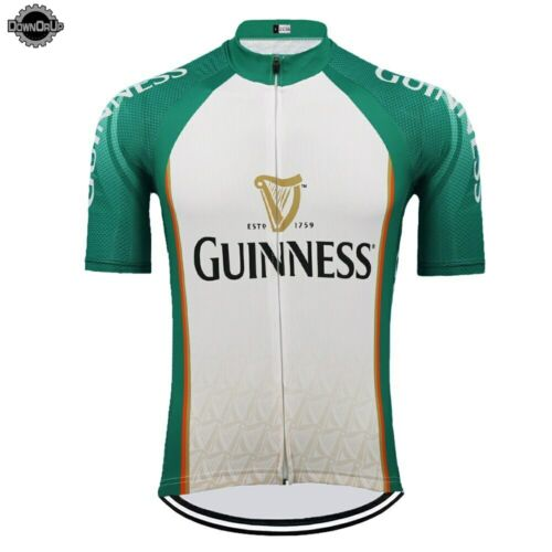 Mens Guinness Beer Cycling Jersey Racing Suit Road Bike Bicycle Irish Ireland