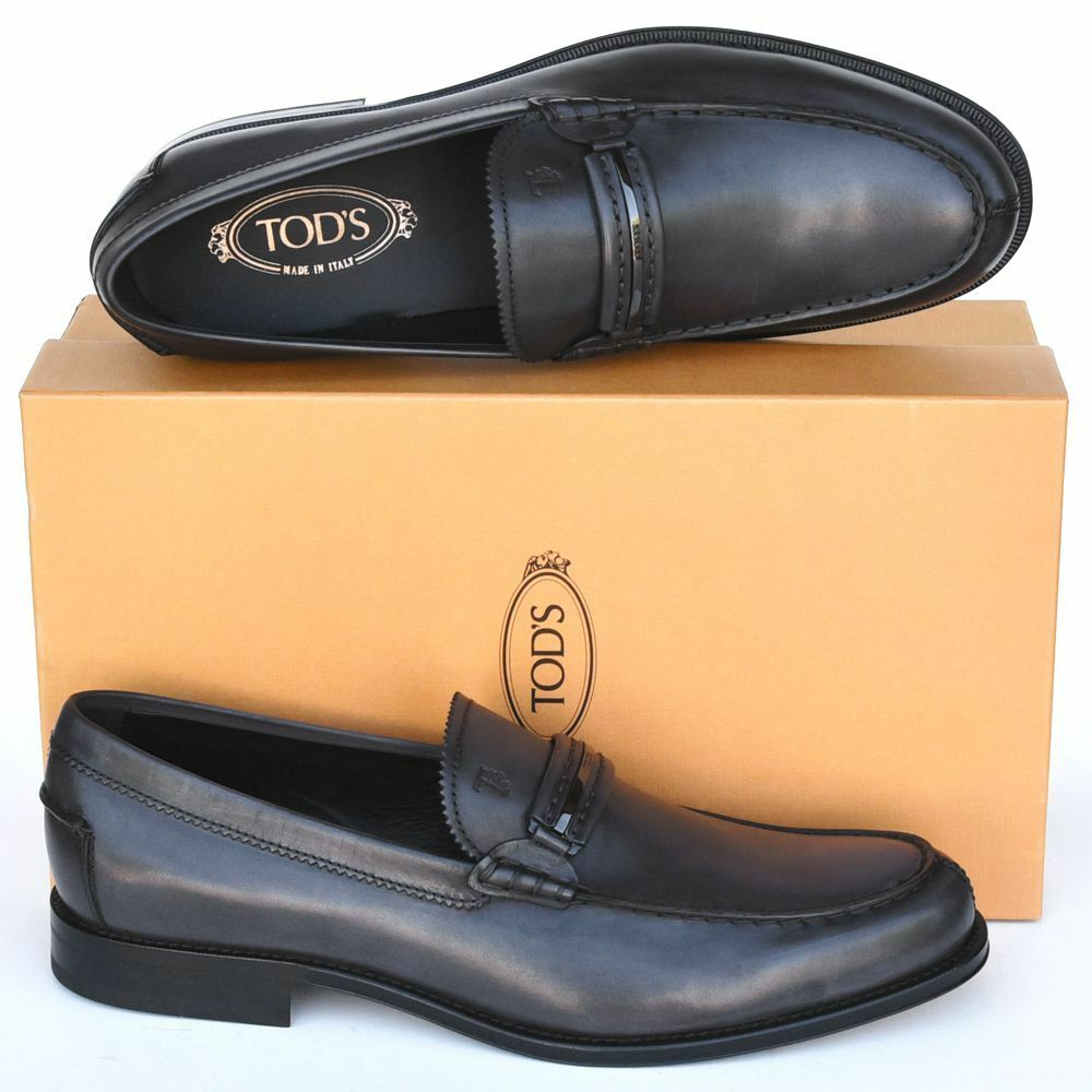 82e14fd1f TOD Tods Nouveau Tailles UK 11.5 - US 12.5 Neuf Logo Robe Chaussures ...