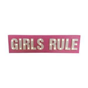 BRILLANTINI-ROSA-ragazze-REGOLA-INSEGNA-LED-da-Bambini-in-legno-decorazione