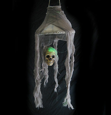 Lighted Skull Lamp Scary Halloween Party Decoration Haunted House Prop 28""