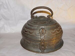 Antique-1800-039-s-Copper-Hand-Rare-Mughal-Islamic-Carved-Betel-Nut-Pandan-Box
