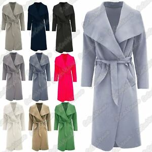 Belted Long New Trench Drape Ladies Cape Coat Italian Waterfall wxXCqUPXIA