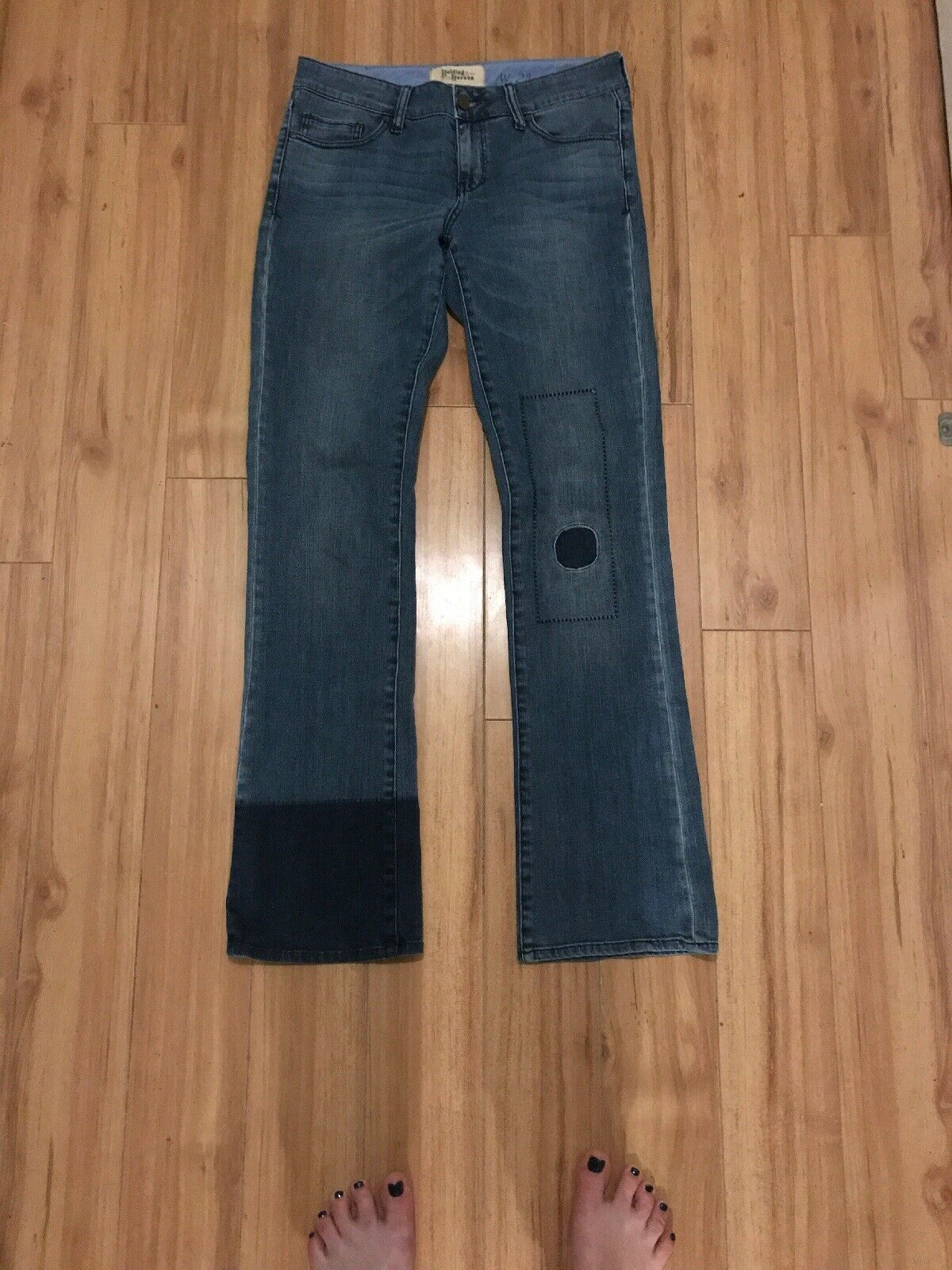Holding Horses by Anthropologie Claire Boot Cut Denim Jeans size 28 Medium Wash