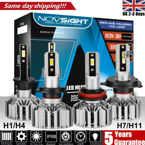 NOVSIGHT H1 H4 H7 H11 60W LED Headlight Conversion Kit High//Low Beam Bulbs 6000K