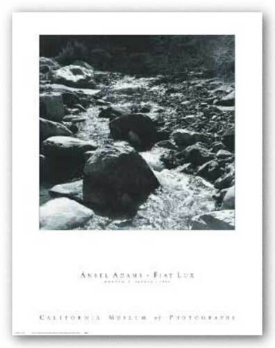 Mountain Stream Ansel Adams Art Print 19x19