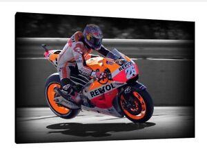 30x20 Inch Canvas Repsol Honda MotoGP Framed Picture Print Dani Pedrosa