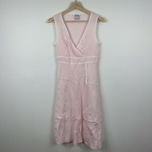 Target-Womens-Dress-Size-10-Pink-Sleeveless-100-Linen-Gorgeous