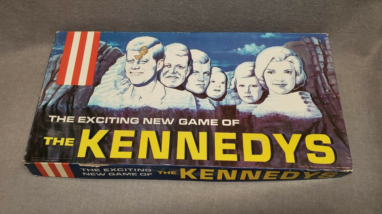 Vintage The Exciting New Game Of The Kennedys Board Game 1962 President