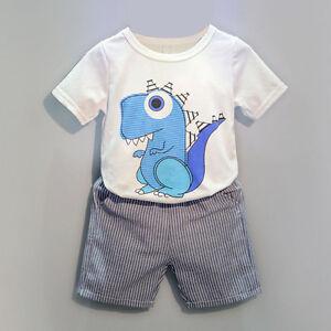 2PCS-Toddler-Kids-Baby-Boy-Cartoon-T-shirt-Tops-Shorts-Pants-Outfits-Clothes-Set