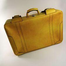 Reise Koffer Kunstleder 70er Jahre Vintage suitcase gelb pop art retro Kult 2024