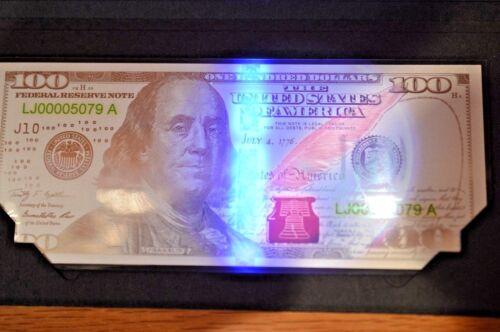 Struck in 99.9/% Fine Silver 2017 $100 Five-Gram Silver Franklin Currency Strike
