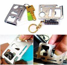 Multifunktion Mini Notüberleben Messer Edelstahl Camping Werkzeug Tasche 11 in1