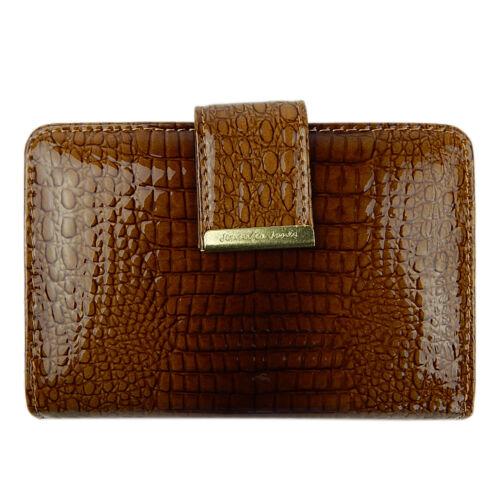 31011cd74f2ee ... Elegante Damen Portemonnaie Geldbörse Portmonee Leder Lack A5198B Cognac