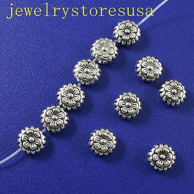 40pcs Tibetan silver flower spacer beads h0442