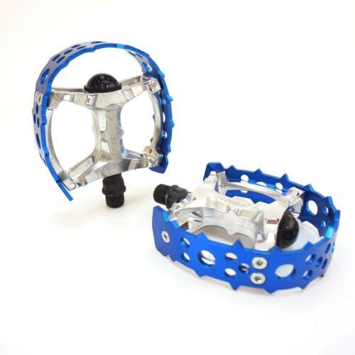 "Tipsum Odyssey Bear Trap 9//16/"" 1//2/"" BMX Sharp Pin Pedal fit 3 Piece Crank Blue"