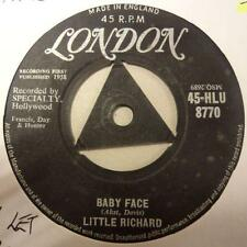 "Little Richard (7"" Vinyl 1st Issue)Baby Face / I'll Never Let You Go-Ex/VG"
