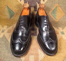 Dack's Black Calfskin Leather Wingtip Brogues size USA- 8 G  made in Canada