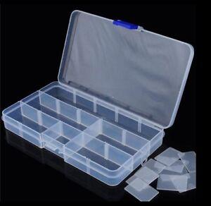 15 Grid Compartments Plastic Jewellery Bead Organizer Box Storage Container Case