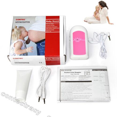 CONTEC Taschen Fetal Doppler,Prenatal Baby Herz Schlag Monitor Baby Sound A,GEL