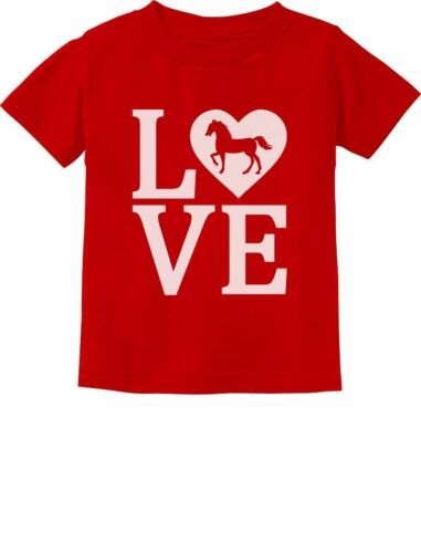 Love Horses Gift For Horse Lover Toddler Kids T-Shirt Rearing Horse