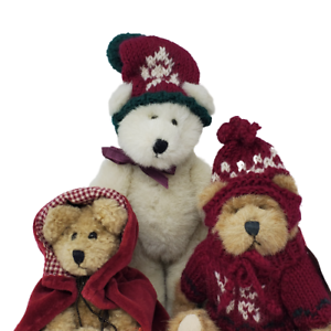 VTG-Boyds-3-Plush-Teddy-Bears-Colleen-O-039-Bruin-and-Fitzgerald-O-039-Bruin-and-Friend