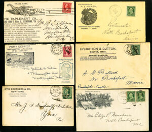 US-Clean-Advertising-Stamp-Cover-Lot-of-16
