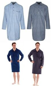 Image is loading Mens-Quality-Traditional-Nightshirt-warm-Brushed-Cotton afc1dcf60
