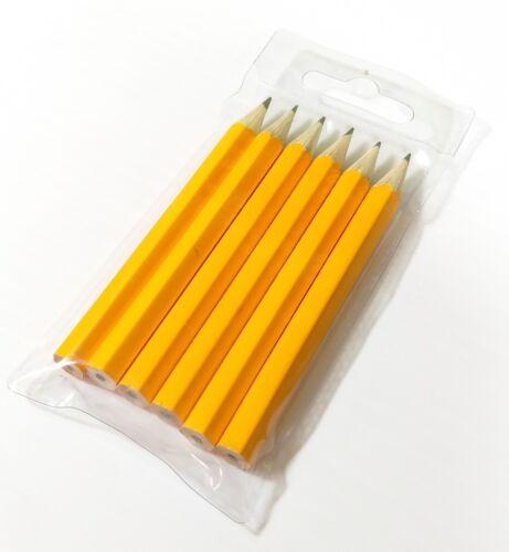 Good for Clubs Pubs 20 x 6 Pack HB Lead Mini Pencils 1//2 Half Length Orange
