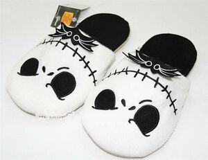 Nuevo-The-Nightmare-Christmas-Jack-Skellington-Suave-Felpa-Before-Calido-Pantuflas