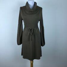 f90e4ca444d577 Calvin Klein Sweater Dress Size M Brown Cowl Neck Long Sleeve Acrylic Womens