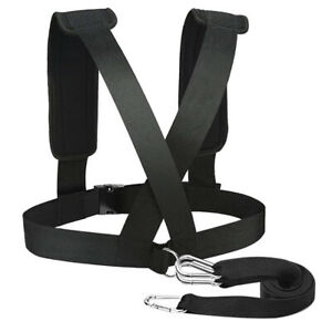 Fitness Strap Vest Sled Harness Vest Strength Training Strap Belt w// Hook D-Ring