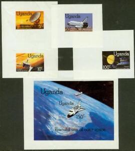 Uganda-1982-Space-set-amp-SS-MASTER-PROOFS
