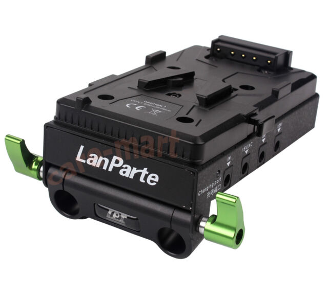 LanParte V-mount Battery Pinch HDMI Splitter Power Supply Plate V-Lock DSLR Rig