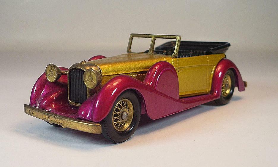Matchbox MoY Y-11 Lagonda Drophead Coupe (1938) (1938) (1938) rare Farbe himbeer metall  6459 409