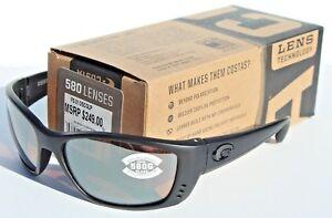 de3dde04a9 Image is loading COSTA-DEL-MAR-580G-Fisch-POLARIZED-Sunglasses-Blackout-