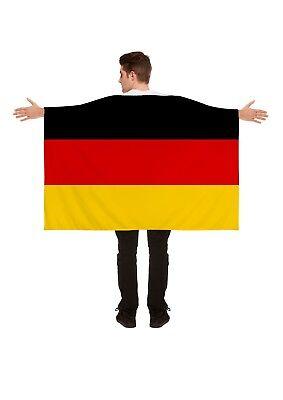 German Flag 5ftx3ft Wearable Cape Germany Football Sports Supporters Fancy Dress