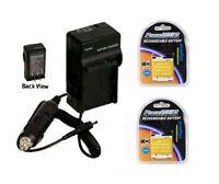 2 Batteries + Charger For Panasonic Dmc-fh10k Dmc-fs50 Dmc-xs1 Dmc-xs1k Dmc-xs1w