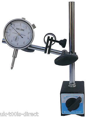 Dial Test Indicator DTI Gauge★60kg Magnetic Base★Stand★Range 0-10mm★0.01mm★