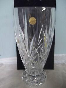 cristal d 39 arques vase 12 24 lead crystal france heavy beautiful. Black Bedroom Furniture Sets. Home Design Ideas