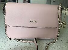 Genuine DKNY Bryant Park Handbag Saffiano Leather Pale Pink Clutch Crossbody