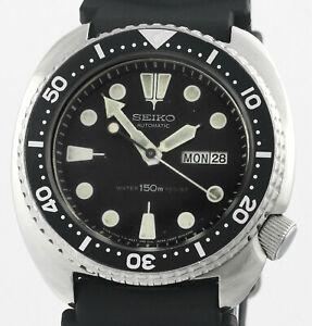 1984 SEIKO Turtle 6309 7049 150m S/Steel Mens Wrist Watch Rare Original Dial