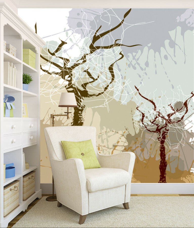 3D Art Tree Graffiti 7 Wall Paper Murals Wall Print Wall Wallpaper Mural AU Kyra