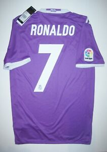buy online 901c1 d4802 Details about New 2016-2017 Real Madrid Cristiano Ronaldo Adidas Away  Purple Jersey