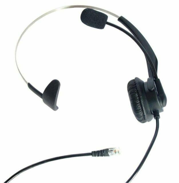4 Pin Rj11 Monaural Corded Operator Call Center Telephone Headset Headphone For Sale Online Ebay